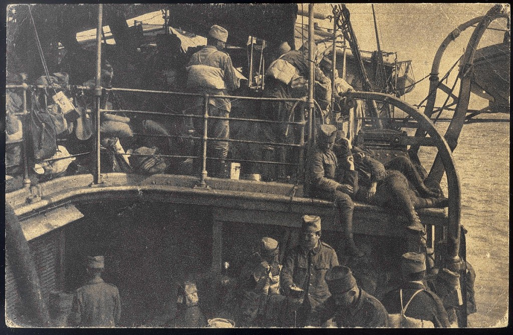 20. u ladji srpska vojska na putu sa Krfa u Solun