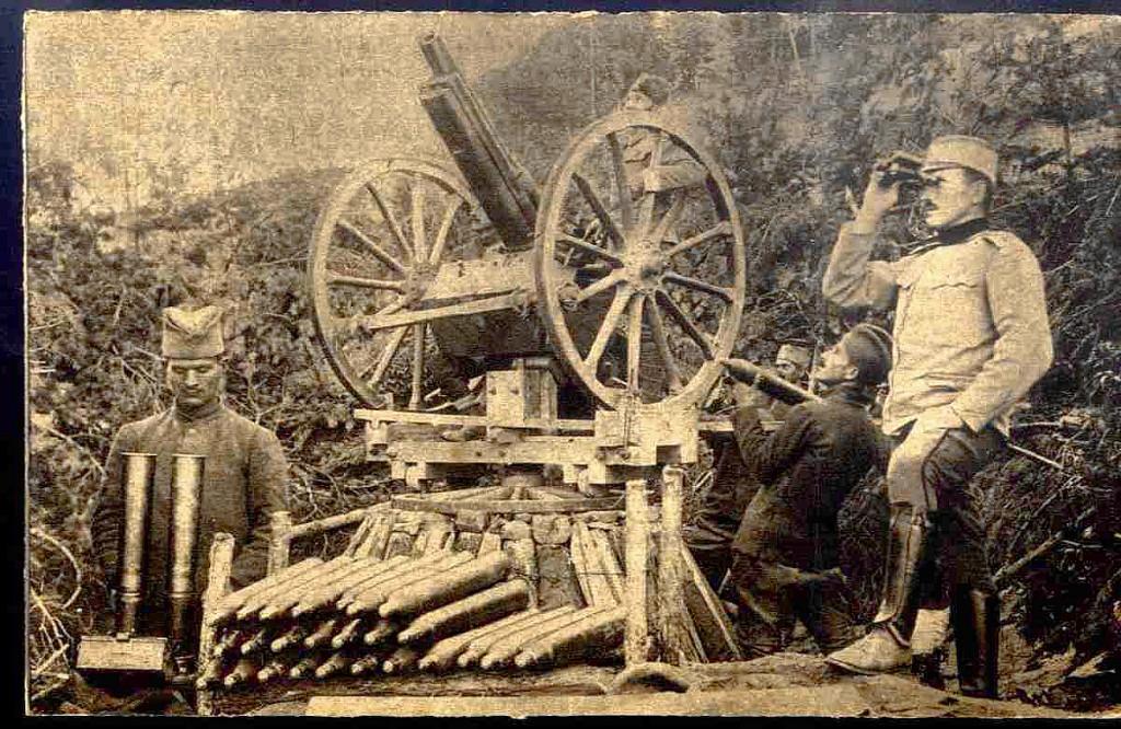 26. a gadjanje nemackih aeroplana topom u makedoniji