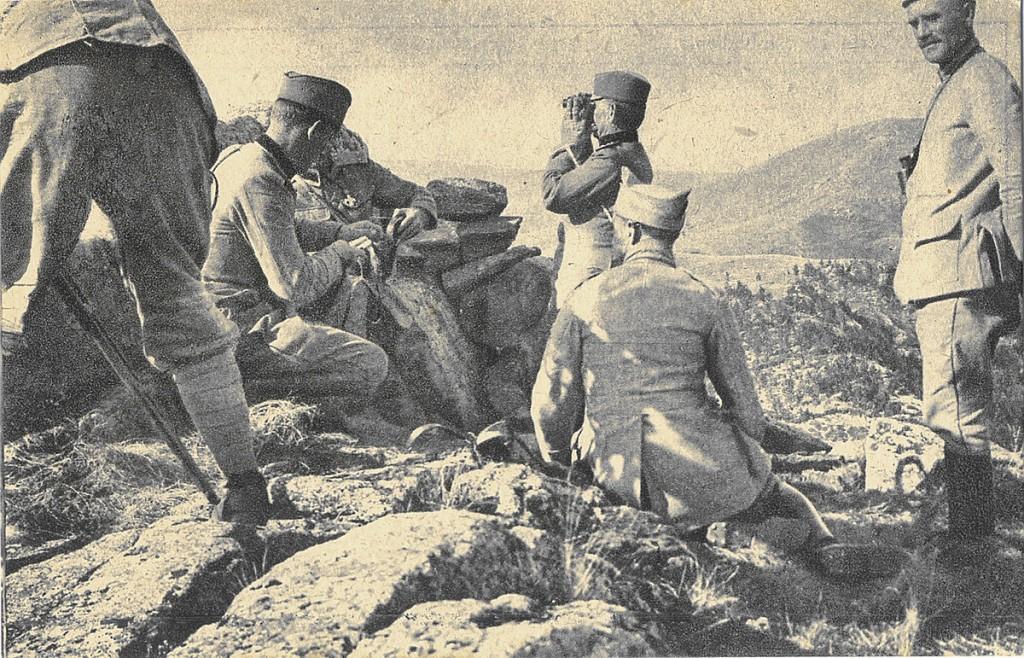 28. Komandant Divizije posmatra borbu na Kajmakcalanu