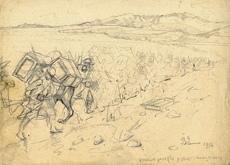 9. Polazak rezerve 8. oktobar Kajmakcalan 1916.