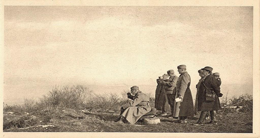 Kralj Petar na bojistu kod Darosave 1914