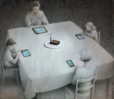 dinner-illustration-by-pawel-kuczynski