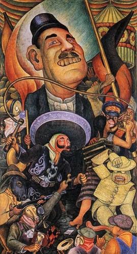diego-rivera-carnival-of-mexican-life-dictatorship-1936