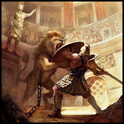 gladiator_vs_lion_by_miguelcoimbra